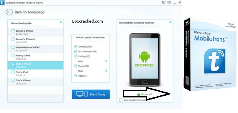 Wondershare MobileTrans Key