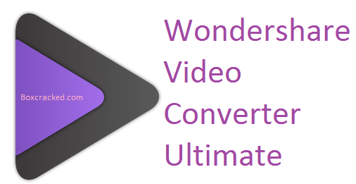 wondershare video converter Crack
